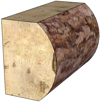 Rustic 3-Sided House Logs