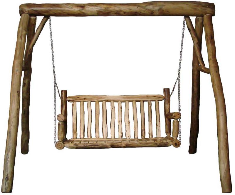 Rustic log furniture plans free pergola for Log swing plans